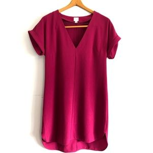 A New Day Cap Sleeve Dress Valentine's Day Merlot